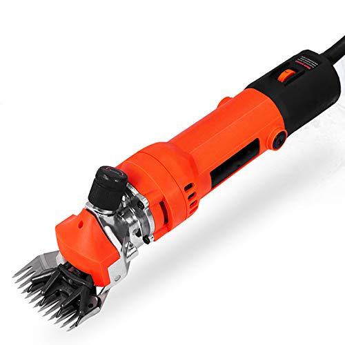 Ker Esquiladora Eléctrica para Ovejas, 680W 220V, Tijera para Esquilar de Ovejas, Máquina de Corte para Lana, Esquiladora Eléctrica de 6 Engranajes Velocidad Esquiladora Orange
