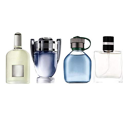 Easy-topbuy 4 Stück Männer Parfüm Set, Elegantes Parfumset Für Herren Parfüm-Geschenksets Langlebiger Duft EDT Spray Parfüm, 25 Ml x 4