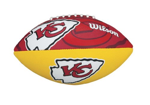 WILSON Football mit dem Logo des NFL Junior Teams, WTF1534IDKC, Kansas City Chiefs, Für Kinder