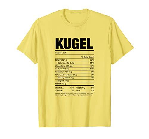 Nutrition Facts Kugel Jewish Holiday Food Hanukkah Gifts T-Shirt