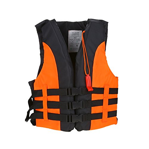 Child Life Vest Life Jacket Adjustable Children Boating Lifejacket with Whistle for Outdoor Swimming Rafting Kayaking(Orange)
