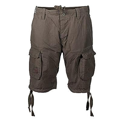 Surplus Men's Airborne Vintage Shorts Washed Olive Size 7XL