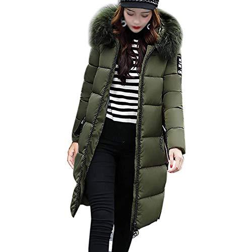 SKYWPOJU Damski/damski płaszcz z futrzanym kapturem grubsza zimowa wąska kurtka Lammy długa kurtka pikowana kurtka na zewnątrz ciepły płaszcz eleganckie swetry rozpinane