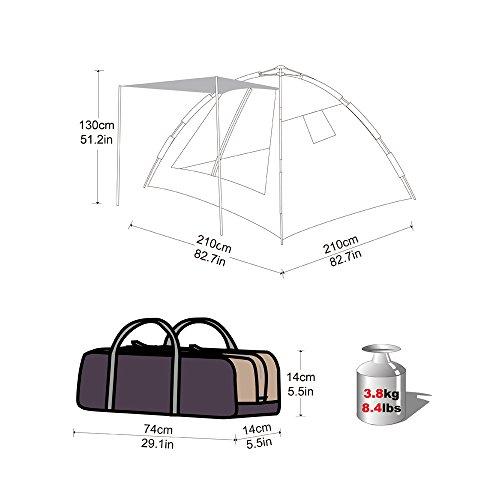 KingCamp(キングキャンプ)テントアウトドアワンタッチテント[3~4人用]KT3092シアンブルー