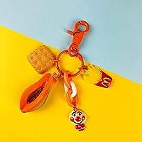 Xi-Yu アボカドフルーツドリアン車のキーリングペンダントのバッグの飾り小さな宝石2個 (Color : A)