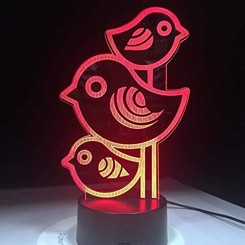 LBMTFFFFFF Lámpara de Luz de Noche Lámpara de Ilusión 3D Lámpara de Mesa Decorativa de 7 Colores con Luz de Noche Llevada