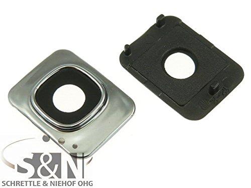 NG-Mobile Kameralinse Kamera Fenster Glas Scheibe Abdeckung + Rahmen für Samsung Galaxy S3 Mini (VE) GT-i8190 GT-i8200 Silber schwarz