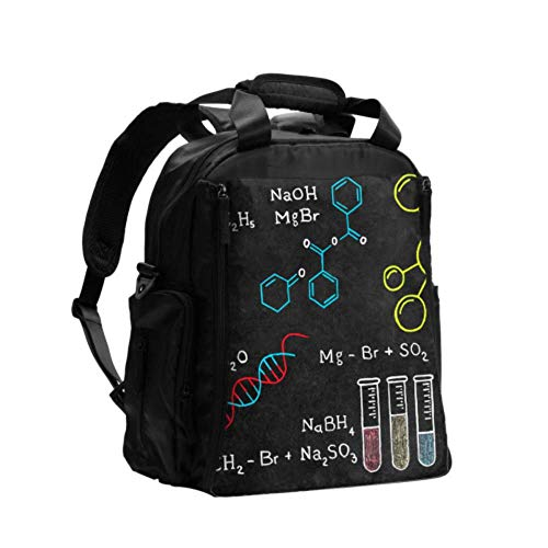 Diapers Bag Fashion Chemical Elements Periodic Table Backpack Diaper Bags Multifunction Travel Backpack with Diaper Changing Pad for Baby Care