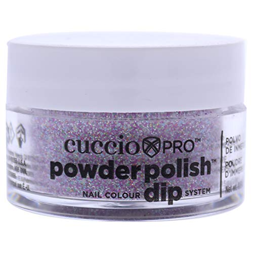 Cuccio Deep Purple Glitter Dipping Powder 14g
