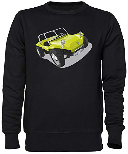 Capzy Manx Strand Buggy Schwarz Jumper Sweatshirt Unisex Herren Damen Größe XXL Black Unisex Jumper Size XXL