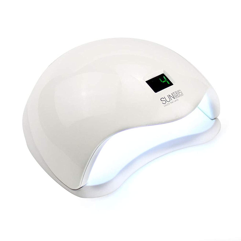 バンクうっかり利用可能タイマー付き48W UV LEDライトランプジェルゲルドライヤー、ジェルネイルとトゥエナの乾燥用センサー