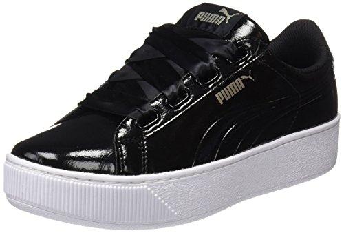 Puma Damen Vikky Platform Ribbon P Sneaker, Schwarz Black Black, 40 EU