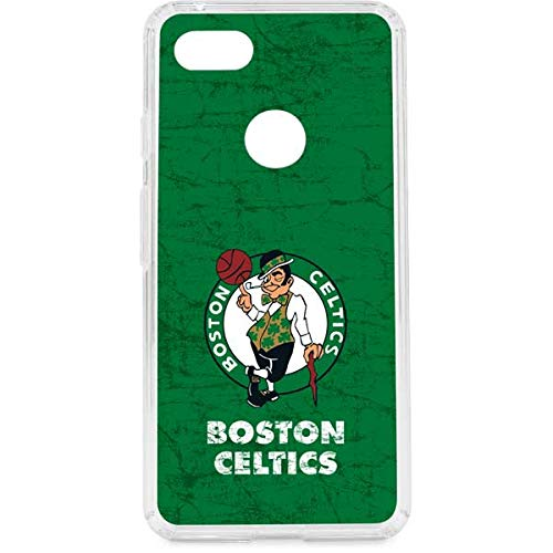 Skinit Clear Phone Case Compatible with Google Pixel 3 XL - Officially Licensed NBA Boston Celtics Green Primary Logo Design