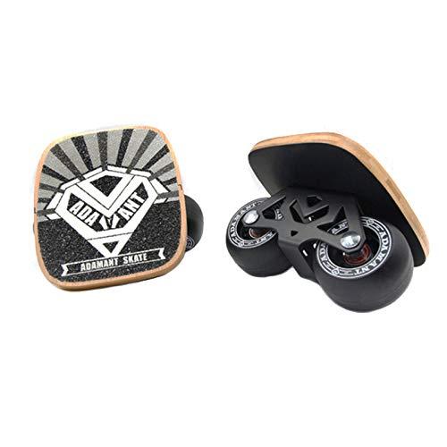 LINGJIE Drift Skates Board Hover Shoes Aluminiumlegierung Mattiertes Brett Langlebig rutschfest Caster Erwachsene Kinder Reise