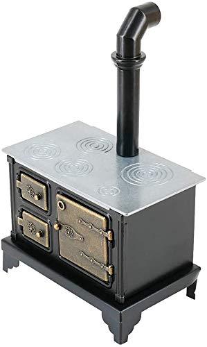 Jilibaba Estufa Chimney-1:12 Escala Mini Estufa Chimenea Modelo Casa de Muñecas Miniatura Accesorios Juguete de Cocina