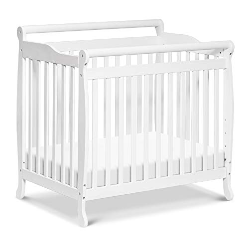 Emily 4-in-1 Convertible Mini Crib in White, Greenguard Gold...