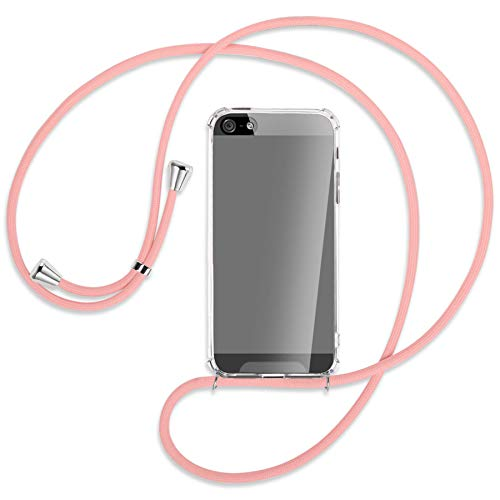 mtb more energy Collar Smartphone para Apple iPhone 5, 5S / iPhone SE (4.0'') - Rosa - Funda Protectora ponible - Carcasa Anti Shock con Cuerda