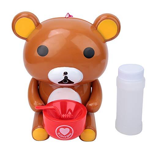 Xinde Máquina de Burbujas eléctrica, Juguete para niños, artículo Inteligente para niñas y niños(Brown)
