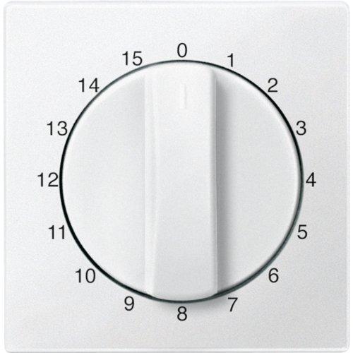 Merten 539319 centrale plaat voor tijdschakelaar gebruik 15 min, poolwit, systeem M