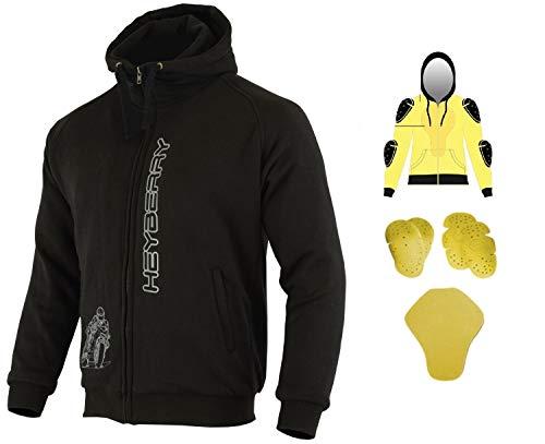 Heyberry Hoody Motorradjacke Hoodie Roller Jacke Schwarz Gr. XL