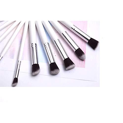 Multifonctionnel Dix Pack Maquillage Brush Set Portable Ombre À Paupières Brush Foundation Brush Beauté Outil De Maquillage Débutant Blanc
