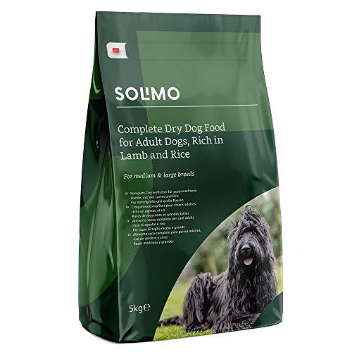 Marchio Amazon - Solimo Alimento secco completo per cani adulti ricco di agnello e riso, 1 confezione da 5 kg