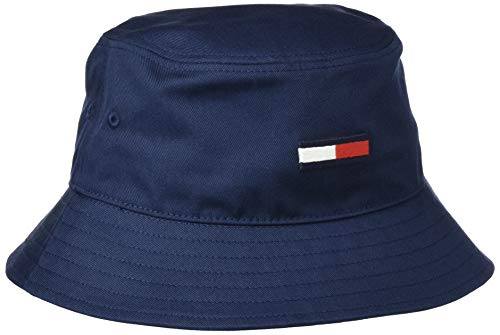 Tommy Jeans Damen TJW Flag Bucket HAT Hut, Marineblau (Twilight Navy), Einheitsgröße