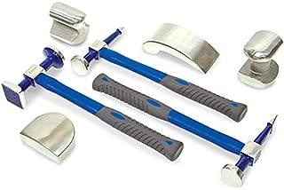 Eastwood 7 Pieces Body & Fender Set Auto Body Repair Tools Fender Tool Kit Hammer Dolly Dent Bender