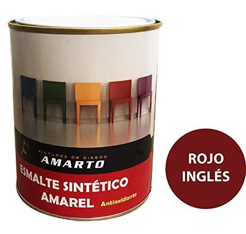 Esmalte Sintetico Amarel Brillante. Alta calidad (4 L, Rojo Ingles)
