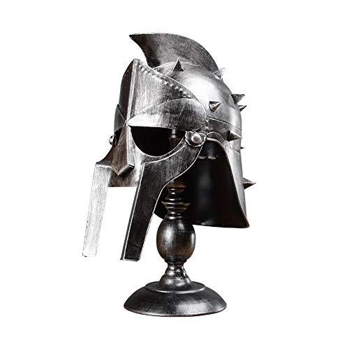 WANHAO Lámpara de Mesa Gladiador Máximo,Casco Medieval luz del Escritorio de la Vendimia Spartan Griego réplicas de la Armadura Caballero Casco de Lámpara de Escritorio de la lámpara de cabecera