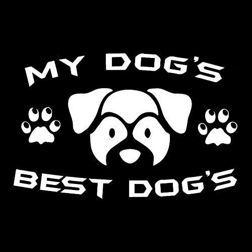 2 Pcs,Vinyl Decal Sticker Car, for Van, Laptop, My Dogs Best Dogs Classic Funny Anime Character Stickers, for Cars, Motorbikes, Windows, Tablets, Luggage, Sign Graphic Art