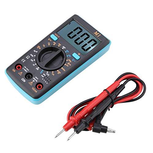 Probador 0 ℃ -50 ℃ `Multímetro digital, multímetro digital de rango automático rápido y preciso, voltaje CC CA para fábrica, automóvil, hogar, automóvil(blue)