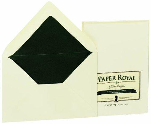 Rössler 2031831008 - Paper Royal - Briefumschlagpack m.Sf., C6, 20 Stück, chamois gerippt