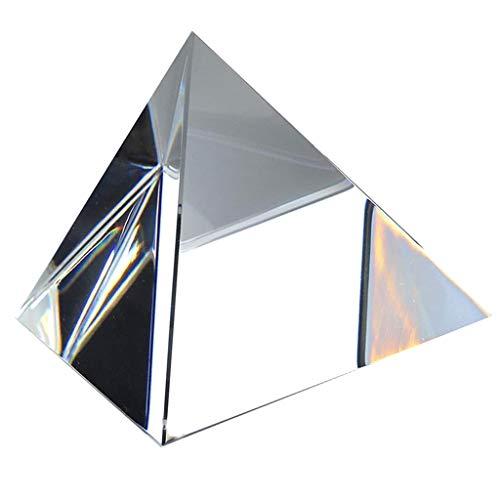 B Blesiya Pyramide Décorative de Cristal Verre Optique Transparent Paperweight - 60mm