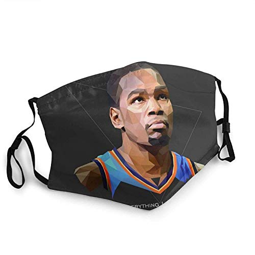 Kevin Player Durant Mouth Face_Mask,Windproof Sports Mask Microfiber for Men/Women-Outdoor Sports-Outdoor Sports Made in USA,2 Filters