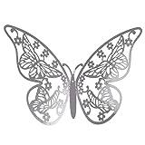 YWLINK Estilo Moderno 12 UNIDS PláStico Mariposa Espejo DecoracióN Home Room Art 3D DIY Moda Pegatinas De Pared Hermosa