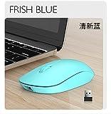 FANGZI ratónWhite USB Wireless Mouse Recargable Mute Click Bluetooth Dual Mode Mouse 1200dpi Optical Computer Mause para LaptopAzul Recargable