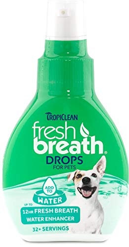 Fresh Breath by TropiClean Oral Care Drops for Dogs, 2oz - Made in USA