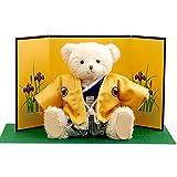 【プティルウ】男の方のすべての祝い事や日本のお土産に、袴ベア (金屏風) 菖蒲 ノーマル