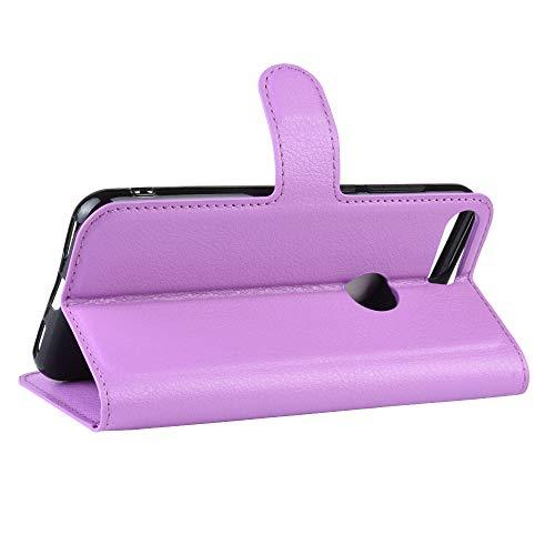 Funda Móvil para Alcatel 1S 2019 Carcasa Book Case Cuero PU Silicona Magnetic Wallet Protector Teléfono Flip Back Cover para Alcatel 1S 2019 1 S Alcatel1S 5024D 5024Y 5024K 5024 D Accesorios (purple)