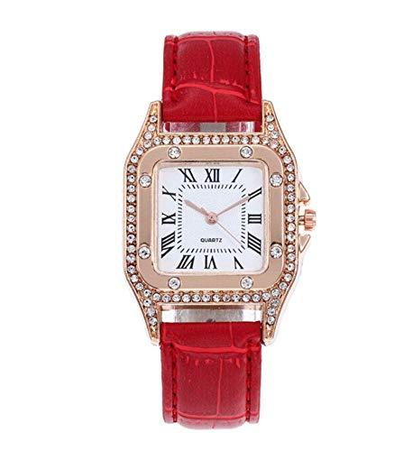 Reloj de pulsera para mujer, elegante y a la moda, con elegante caja