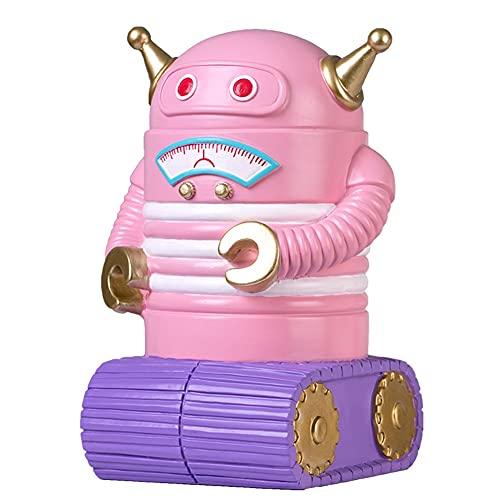 DNAN Linda alcancía Robot Monedero de Resina para niños a Prueba de caídas Banco de Dinero de Gran Capacidad de Dibujos Animados Los Mejores Regalos de cumpleaños para niños y niñas.