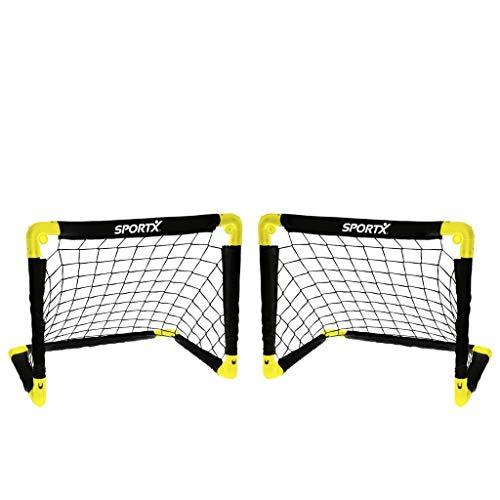 Sportx Kinder Fußballtor Tor, Black/Yellow, L/180 x 91 x 120 cm