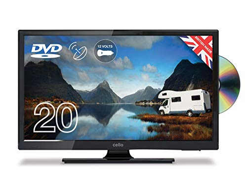 CELLO C2020FS 12v 12 volt LED HD CARAVAN TV FREEVIEW DVD USB MOTORHOME BOAT,20'