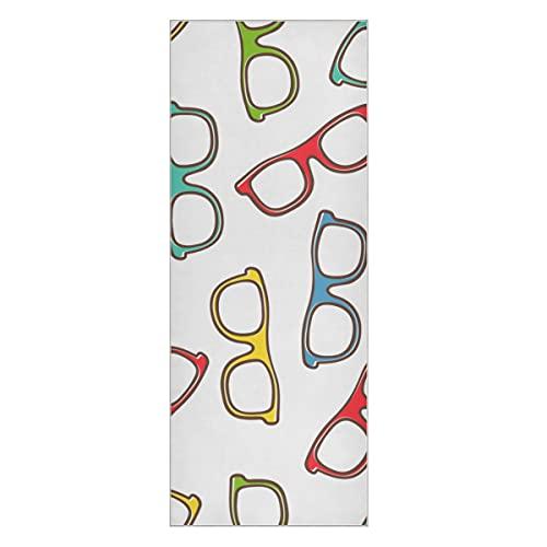 Gafas de Toalla de Yoga Calientes Accesorios de diseño Populares Estera de Toalla de Yoga Antideslizante Estera de Yoga Antideslizante súper Suave para niñas Adecuado para Playa Fitness Park Yoga y p