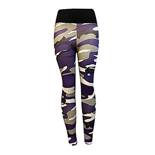 pitashe Damen Camo Leggings, lange Streetwear- & Sporthose mit Tarnmuster Damen Leggings, Lang Frauen Sporthose, Stretch und Hohe Taille 3/4 Hose, 1 Pack