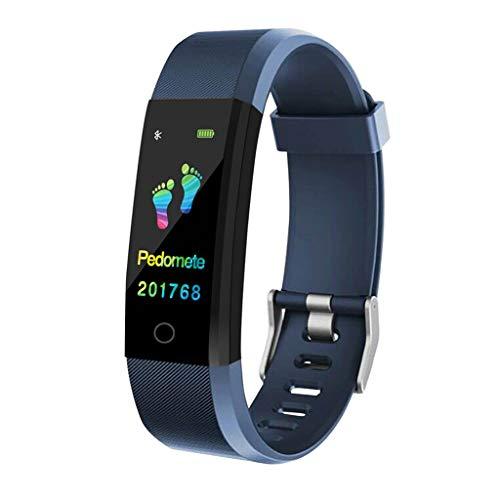 Monitores de actividad Presión arterial de la pantalla del sueño del ritmo cardíaco de los deportes Color inteligente reloj podómetro USB de carga directa a prueba de agua Monitoreo sedentario de Runn