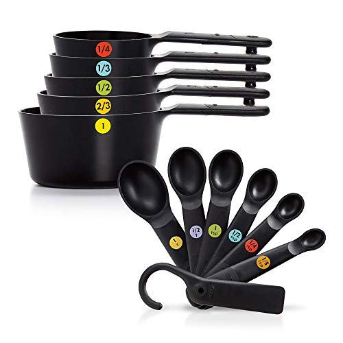 OXO Good Grips Plastic Measuring Cups and Spoons Set, 13 Pieces