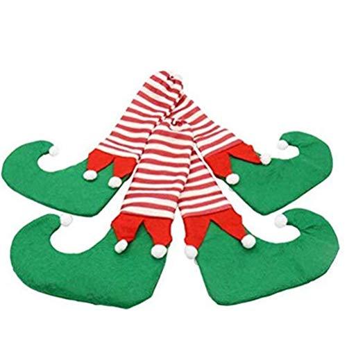 WJSWA 4 Piezas de Fundas para Patas de Mesa navideñas Calcetines Calcetines para sillas navideñas