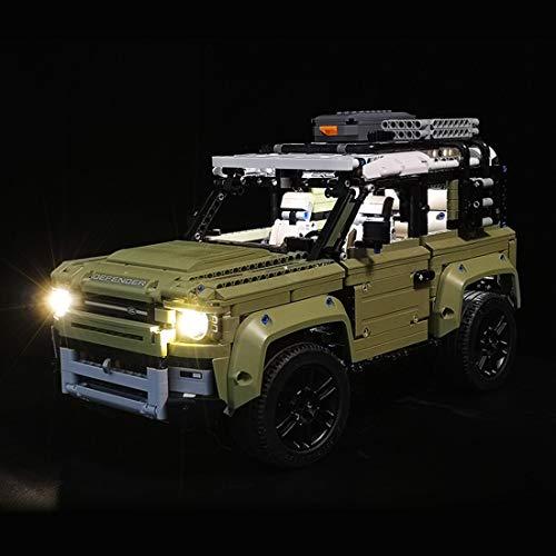 POXL LED Beleuchtungsset Licht Set Für Lego Technic Land Rover Defender - LED-Kabel Licht Kit Für Lego 42110 - Ohne Lego Set